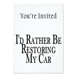 Rather Restore Car Card