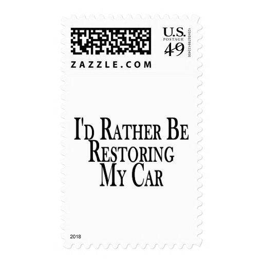 Rather Restore Car Postage Stamps
