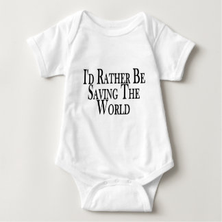 Rather Save The World Baby Bodysuit