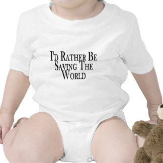 Rather Save The World Rompers