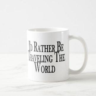 Rather Travel The World Coffee Mug