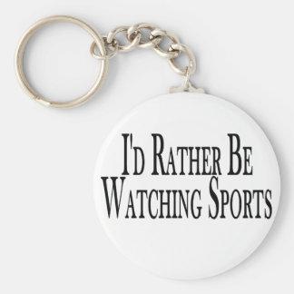 Rather Watch Sports Keychain