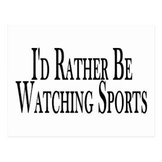 Rather Watch Sports Postcard