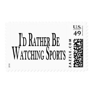 Rather Watch Sports Stamp