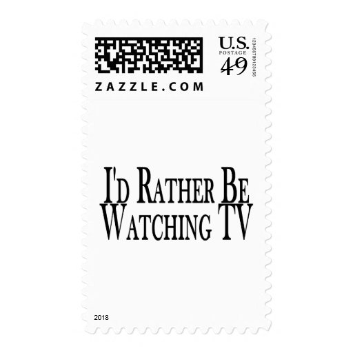 Rather Watch TV Postage Stamps