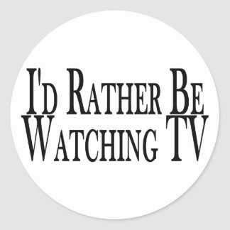 Rather Watch TV Stickers