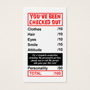 Funny quotes sayings business cards templates zazzle rating pick up card youve been checked out reheart Images