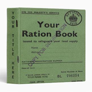 ration book binder