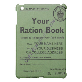 ration book  iPad mini cover