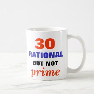 Rational but Not Prime Classic White Coffee Mug