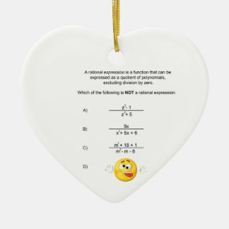 Rational Expression Ceramic Ornament