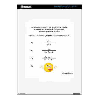 Rational Expression Decals For iPad 3