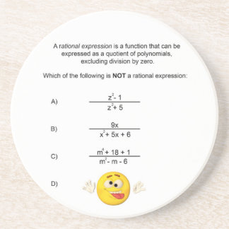 Rational Expression Drink Coaster