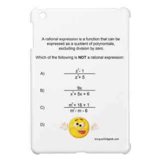 Rational Expression iPad Mini Cover