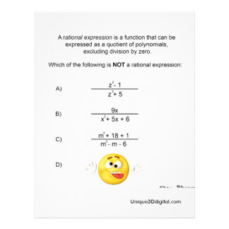 Rational Expression Letterhead