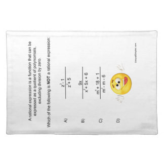 Rational Expression Placemat