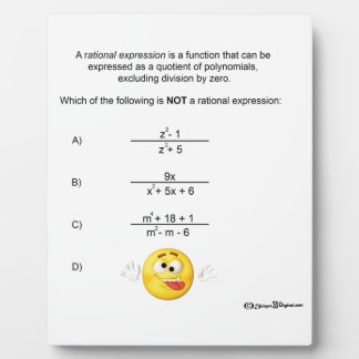 Rational Expression Plaque