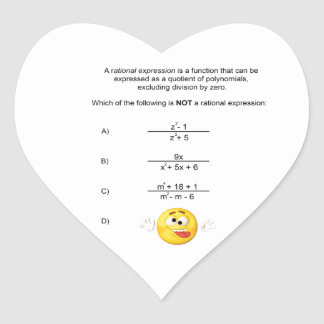 Rational Expression Sticker