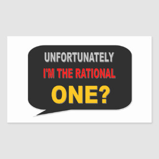 RATIONAL ONE RECTANGULAR STICKER