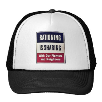 Rationing Is Sharing Mesh Hat