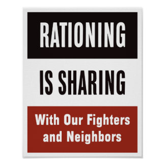 Rationing Is Sharing -- WWII Posters