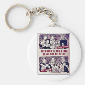 Rationing Means A Fair Share For All Of Us Basic Round Button Keychain