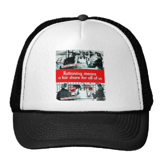 Rationing Means Mesh Hats