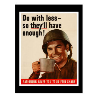 Rationing - WW2 Postcard