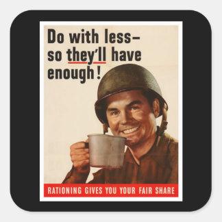 Rationing - WW2 Square Sticker