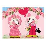 Ratita ratita,¿te quieres casar conmigo? tarjeta postal