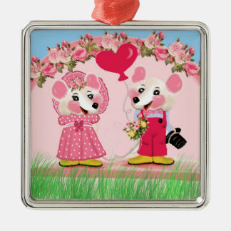 Ratita ratita,you are wanted to marry with me? metal ornament