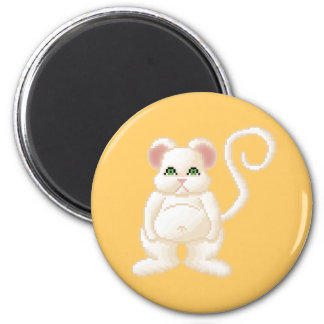 Ratón 1 de la jalea del Critter de Lura Imán Redondo 5 Cm