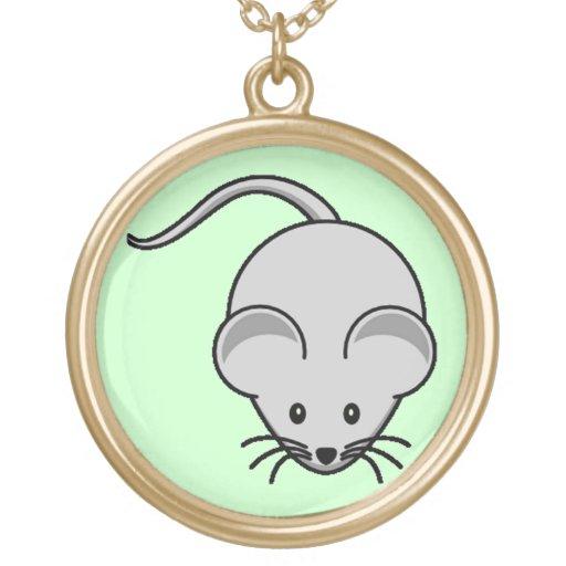 Ratón adorable collares personalizados