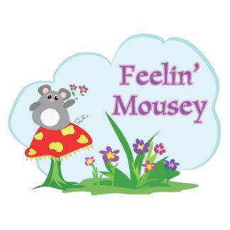 ratón adorable mousey de sensación en jardín esculturas fotograficas