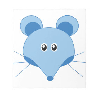 Ratón adorable poco parque zoológico bloc de papel