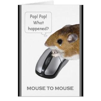 Ratón al ratón 2 tarjeta de felicitación