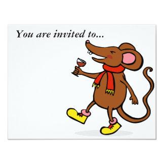 """Ratón alegre invitación 4.25"""" x 5.5"""""""