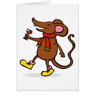 Ratón alegre tarjeta de felicitación