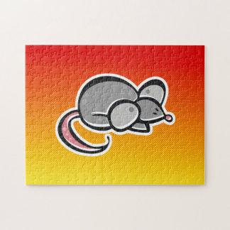 Ratón amarillo-naranja puzzles con fotos