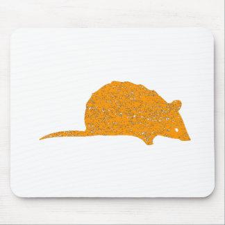 Ratón anaranjado apenado alfombrilla de ratón