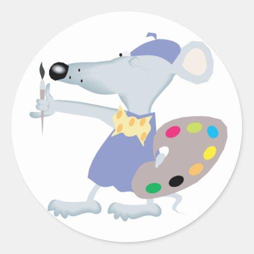 Ratón artístico pegatinas