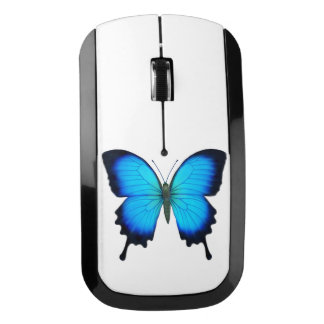 Ratón azul de la radio de la mariposa de Ulises Ratón Inalámbrico