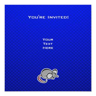 """Ratón azul invitación 5.25"""" x 5.25"""""""