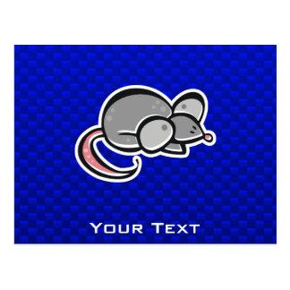 Ratón azul postal