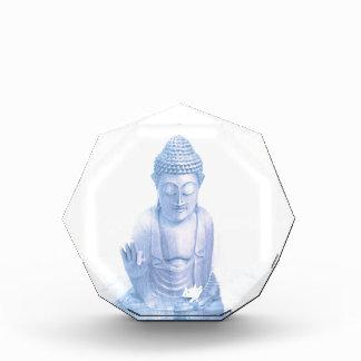 ratón blanco azul y minúsculo de Buda