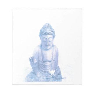 ratón blanco azul y minúsculo de Buda Blocs De Notas