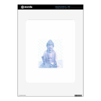ratón blanco azul y minúsculo de Buda Calcomanía Para El iPad