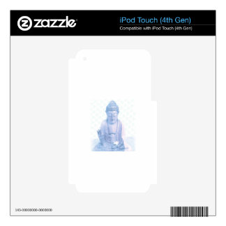 ratón blanco azul y minúsculo de Buda iPod Touch 4G Skin
