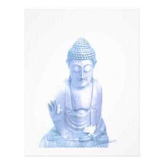 ratón blanco azul y minúsculo de Buda Membrete