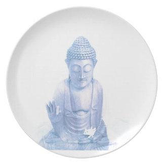 ratón blanco azul y minúsculo de Buda Plato